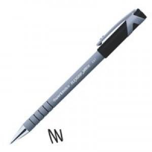 Paper Mate Flexgrip Ultra Ball Point Pen Fine 0.8mm Tip 0.3mm Line Black Ref S0190053 [Pack 12]