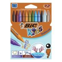 Bic Kids Plastidecor Crayons Colour Hard Long-lasting Sharpenable Vivid Assorted Code 829770