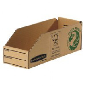 Fellowes Basics Parts Bin Corrugated Fibreboard Packed Flat W98xD280xH102mm Ref 07353 [Pack 50]