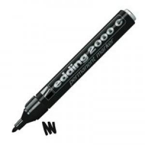 Edding 2000 Permanent Marker Bullet Tip Black Code 2000C-001