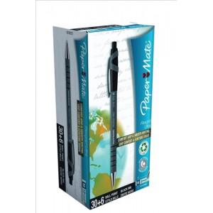 Papermate Flexgrip Ultra Retractable Ball Pen Value Pack Black Tuck 36