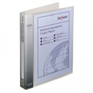 Snopake Electra Executive Polypropylene Presentation Ring Binder A4 4 D Ring 25mm Clear Code 13386