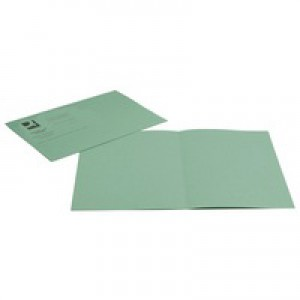 Q-Connect Green Sq Cut Folder 250g Pk100