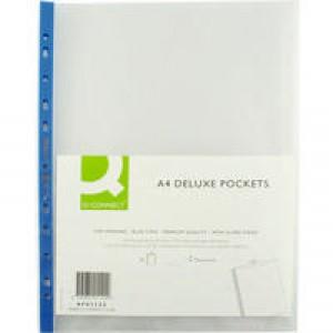 Q-Connect Top OBlue Pen Punch Pocket P25