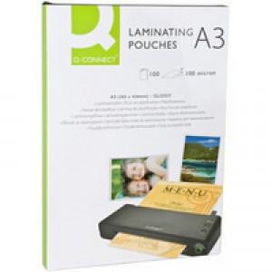 Q-Connect A3 Laminating Pouch 100mc P100