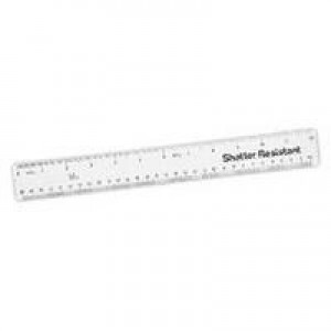 Q-Connect Shatterproof 300mm Clear Ruler