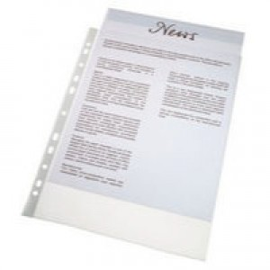 Esselte Economy Pocket Lightweight Polypropylene Multipunched Top-opening A4 Clear Ref 56133 [Pack 100]