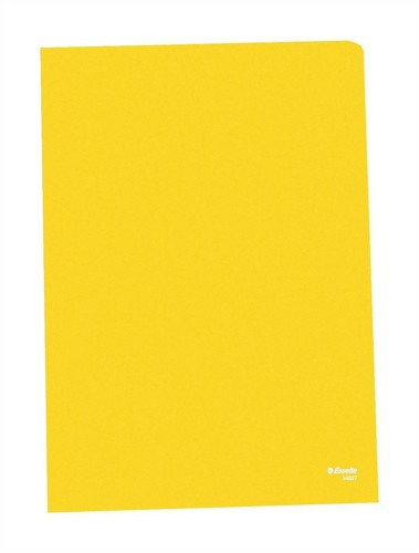 Esselte Copy-safe Folder Plastic Cut Flush A4 Yellow Ref 54842 [Pack 100]