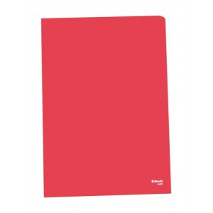 Esselte Copy-safe Folder Plastic Cut Flush A4 Red Ref 54833/54834 [Pack 100]