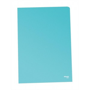 Esselte Copy-safe Folder Plastic Cut Flush A4 Blue Ref 54835/54837 [Pack 100]