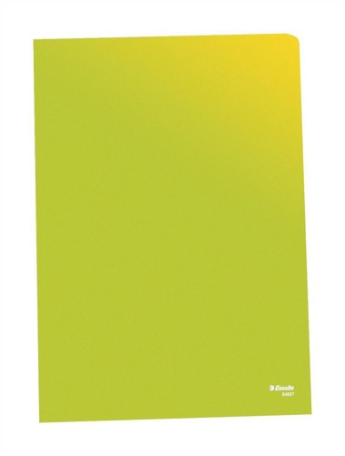 Esselte Copy-safe Folder Plastic Cut Flush A4 Green Ref 54838 [Pack 100]