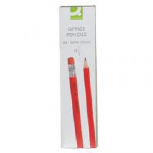 Q-Connect Pencil HB Eraser-Tipped Pk12