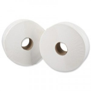 Maxima Toilet Roll Mini Jumbo 2-Ply Core 76mm Length 200m White Ref Maxi10006 [Pack 12]