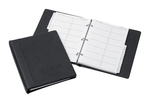 Telephone Index Book Binder with Matching A-Z Index and 20 Sheets A5 Black