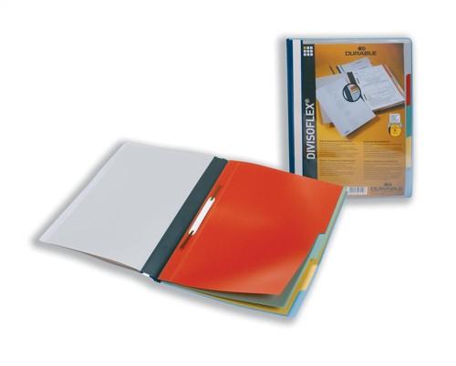 Durable Divisoflex Project Flat File Plastic Capacity 15mm A4 Blue Code 2557/06