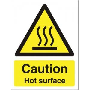 Stewart Superior Catering Sign Caution Hot SurfaceSelf Adhesive Vinyl W150xH200mm Ref CS005SAV
