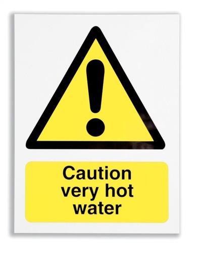 Stewart Superior Catering Sign Caution Very Hot Self Adhesive Vinyl W150xH200mm Ref CS006SAV