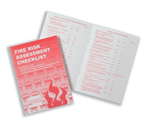 Stewart Superior Fire Risk Assessment Booklet 8 Page Code FRA001