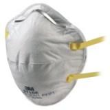 3M Respirator Unvalved FFP1 Classification White With Yellow Straps Code 8710E