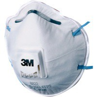 3M Respirator Valved FFP2 Classification White With Blue Straps Code 8822