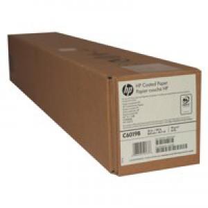 HP DesignJet Coated Paper 90gsm 24in Roll 610mmx45.7m Code C6019B