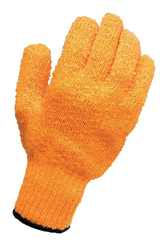Knitted Grip Gloves Pair High Grip PVC Lattice One Size