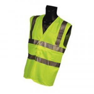 Portwest High Visibility Vest Polyester XXL-XXXL Yellow Ref C470YERXX/3X