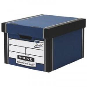 Fellowes R-Kive Premium 725 Classic Storage Box Inside W330xD381xH254mm Blue White Ref 7250603 [Pack 10]