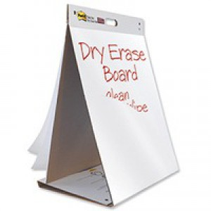 Table Top Meeting Chart Pad of 20 Sheets and Dry Erase Board