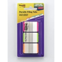 Post-it Index Tabs Lined Strong 25mm Assorted Green Blue Red Ref 686L-GBR [Pack 66]