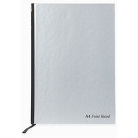 Pukka Pad Notebook With Ribbon Casebound Hard Cover 192 Pages 90gsm A4 Silver Code RULA4