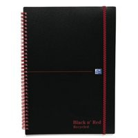 Black n Red Meeting Book Plastic Wirebound Rear Elasticated 3-Flap Folder A4plus Ref 100104323 [Pack 5]