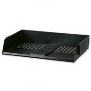 Avery Wide Entry Letter Tray 367x254x63mm Black Code W44BLK