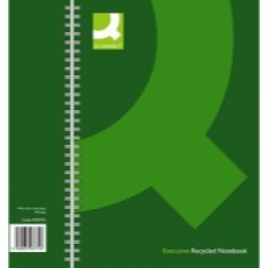 Q-Connect Green A4 Hardback Notebook Pk3