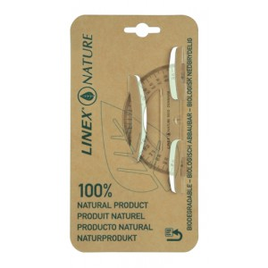 Linex Nature Protractor 180 Degree Biodegradable With Reverse Graduation Clear Code LXON910