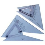 Linex Set Square Adjustable Precision 0.5 Degree Scale Bevelled Edge Long 250mm Clear LXB1120/10B