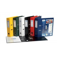 Image for Elba Lever Arch File with Clear PVC Cover 70mm Spine A4 Assorted Ref 100082441 [Pack 10]