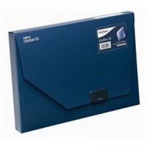 Snopake DocBox Box File Polypropylene with Push Lock 35mm Spine A4 Blue Ref 12858