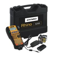 Image for Dymo RhinoPRO 5200 Labelmaker Kit Printer Adaptor and Rechargeable Battery for 6-19mm Tapes Ref S0841390