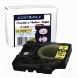 Dymo RhinoPRO Industrial Tape Flexible Nylon 19mm White Ref 18759 S0718120