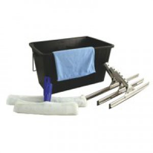 Bentley Window Cleaning Set 8 Piece Contains Cloth 15 Litre Bucket 3 Squeegees 3 Applicators Ref VZWC/SET