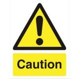 Stewart Superior Caution Sign Self Adhesive Vinyl 150x200mm Code WO125SAV