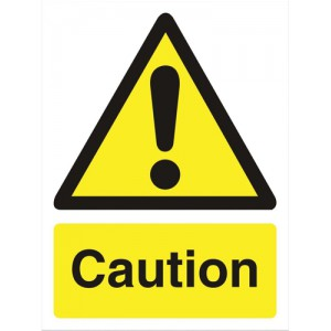 Stewart Superior Caution Sign Self Adhesive Vinyl 150x200mm Ref WO125SAV