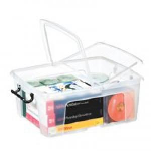 Strata Smart Box Clip-On Folding Lid Carry Handles 24 Litre Clear Ref HW673CLR