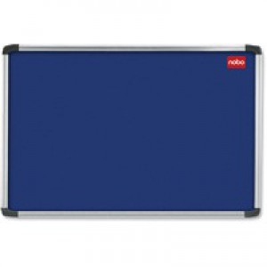 Nobo Euro Plus Noticeboard Felt with Fixings and Aluminium Frame W924xH615mm Blue Ref 30230174