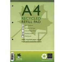 Image for Silvine Everyday Refill Pad Recycled Wirebound Ruled Margin 160pp 70gsm A4 Ref RE4FM [Pack 6]