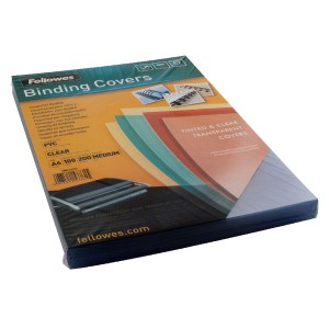 Fellowes Transparent Cover 200mic Pk100