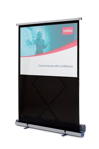 Nobo Projection Screen Floor-standing Portable 1500mm Diagonal Matt White Ref 1901955