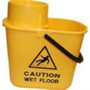 Yellow Plastic Mop Bucket Wringer 15L