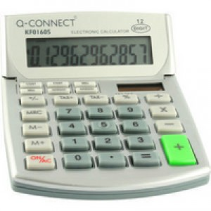 *Q Connect Semi-Desktop Calculator 12-digit KF01605 (926759) (K5)